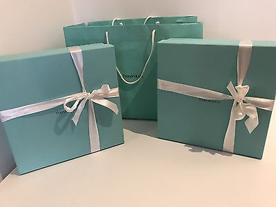 X2 Tiffany & Co. Crystal glass serving Platters