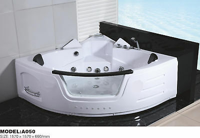 2 Person Corner Free Standing Spa Bath 16 Massage Jets 1.0HP A050