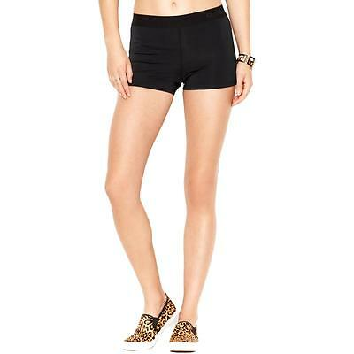 Guess 2433 Womens Black Solid Workout Stretch Shorts M BHFO