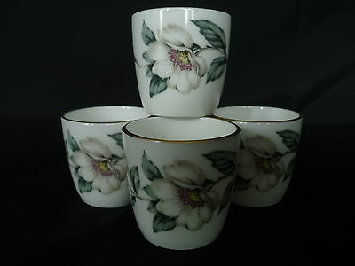 Crown Staffordshire, Christmas Rose,  4 Egg Cups