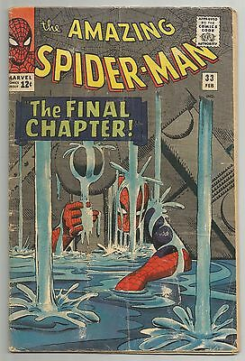 Amazing Spider-Man #33 - Marvel Feb., 1965 Vg-