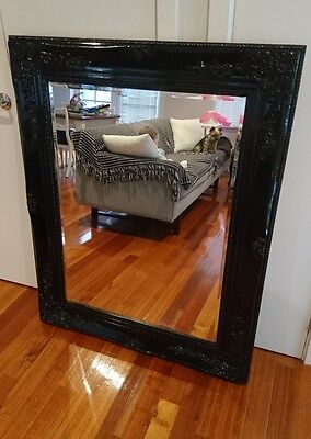 Large black french Provincial mirror
