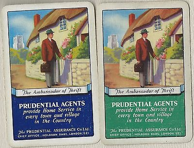Vintage Playing Swap Cards PRUDETIAL AGENTS Advertising Card