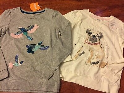 Two New Girls Gymboree Shirts Tops Size 8 NWT