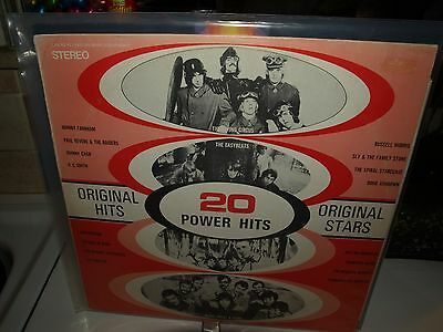 20 POWER HITS original artists vinyl compilation album