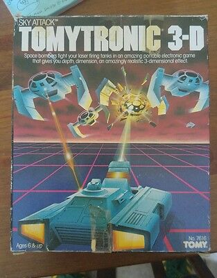 Tomytronic 3-D Sky Attack Boxed, Vintage retro handheld game