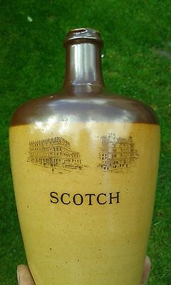A Lovely Large Pictorial Doulton SCOTCH Whisky Jug.