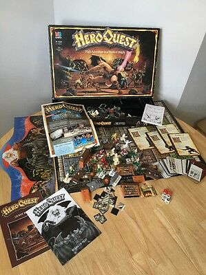Hero Quest Board Game Vintage Retro Fantasy Adventure With Manuals Mb Games