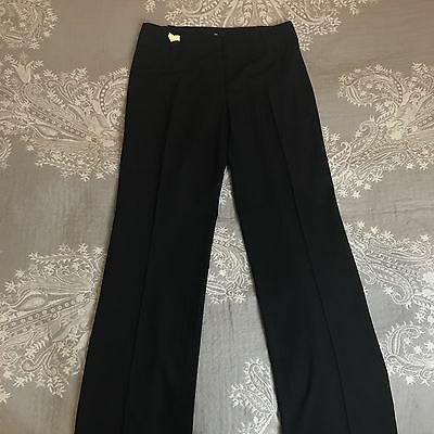 CUE Womens Size 10 Pants Trousers Career Work Straight Wide Leg Black