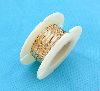 14k yellow gold filled round beading wire bright shinny yellow Dead Soft w30DSg