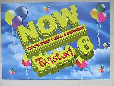 Now Thats What I Call A Birthday Twisted 6 Oct 04 @ The Fridge A5 Rave Flyer