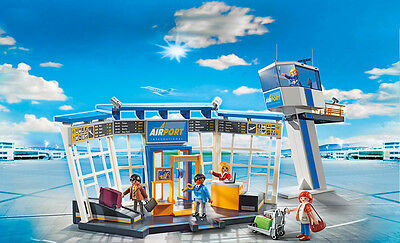 PLAYMOBIL® 5338 Airport with Control Tower - NEW 2016 - S&H FREE WORLDWIDE