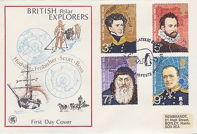 Gb Stamps First Day Cover 1972 Polar Explorers Edinburgh Wessex Rares Postmark