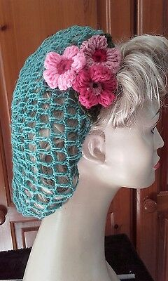 Vintage style 1940's handmade hair snood wartime ww2 duckegg hairnet
