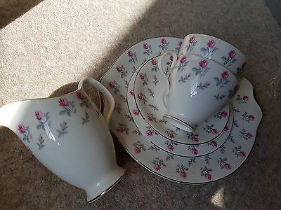 Royal Albert 'Winsome' Bone China Serving Plate, side plates, cups saucers & Jug