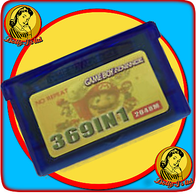 GBA 369 in 1 Game Boy Advance Game w/ Battery Save - Pokemon Mario Contra