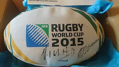 Gilbert Rugby Ball Springboks/south Africa World Cup Official Autograph Tea