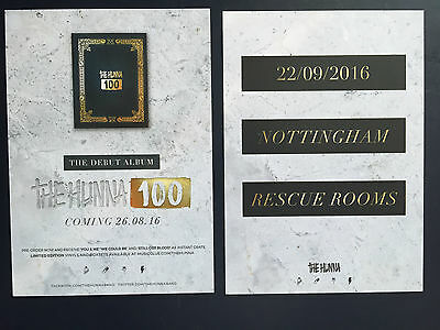THE HUNNA band promo FLYER live 100 tour concert nottingham rescue rooms