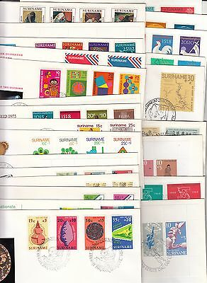 Suriname collection of 24 different FDC's
