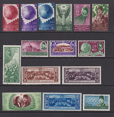 Egypt 1940s to 60s- Good selection of mint  stamps