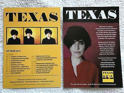 4x TEXAS promo FLYERS live 2017 jump on board concert tour
