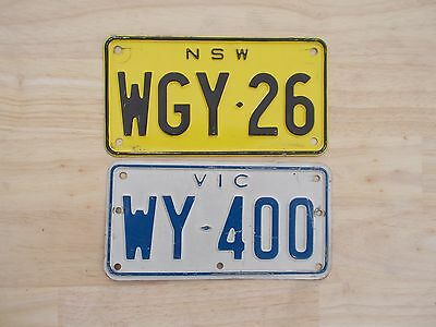 License plate Number plate 2 MOTORCYCLE PLATES