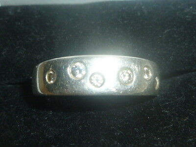 Solid Silver Chunky Gem Set Ring Unisex Ring Size P1/2 Weight 5Grams