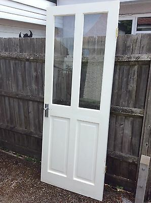 Glass Panel Internal Door Painted White