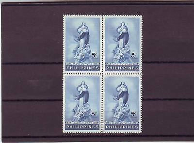 a121 - PHILIPPINES - SG773 MNH 1954 MARIAN YEAR - BLOCK OF 4