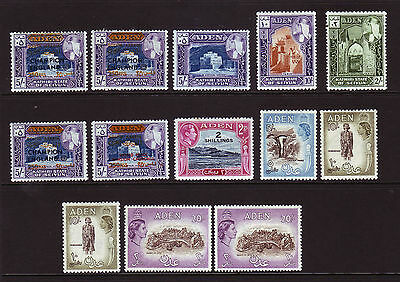 Aden. High Value Selection. Mounted Mint.