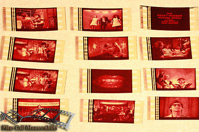Rocky Horror Picture Show - 12 35mm Film Cell Lot movie memorabilia Aus Seller