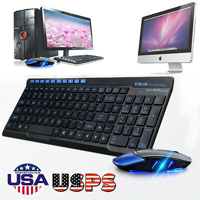 Wireless 2.4GHz Gaming Keyboard and Mouse Combo Set For PC Laptop Pro Gamer USPS