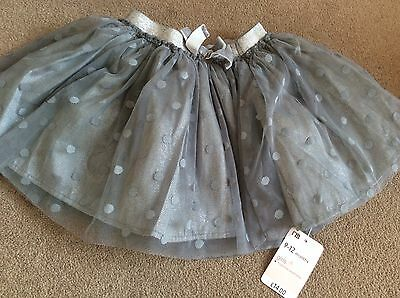 Girls Mothercare Grey Tutu Style Skirt 9-12 Months **Brand New**