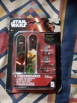 Disney   Star Wars   2 X Fingerboards   Child Toy     With Tags    New Condition