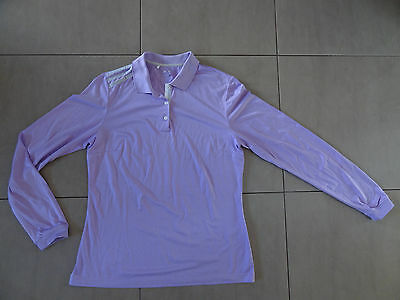 Ladies Adidas Golf Long Sleeve Polo Shirt - Excellent Condition, Size 14.