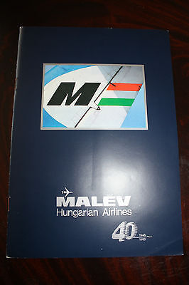 Marketing Brochure Malev Hungarian Airlines 40Th Anniversary