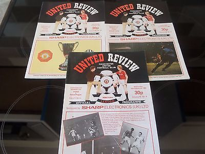 3  Manchester United Programmes 1983- 84 European Cup