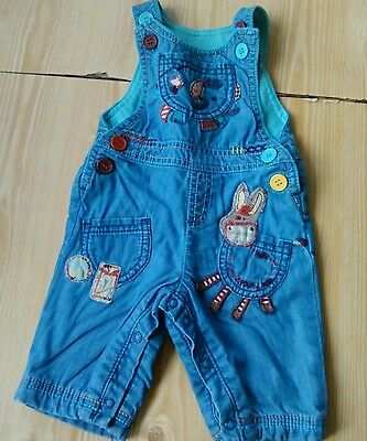 boys next dungarees age 0-3 months