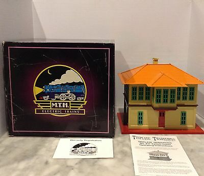Mth Tinplate Traditions 437 Switch Tower With O/b, Instruction-New 10-4036