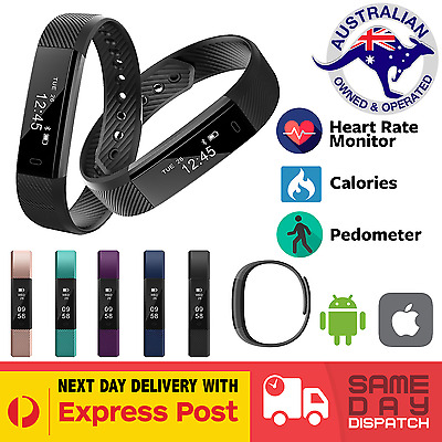 ID 115 HR Smart Fitness Band Activity Tracker Pedometer FitBit Style Heart Rate
