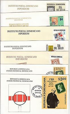 Stamps on stamps Rep Dominicana 7 FDCs