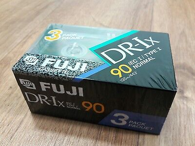 FUJI DR-Ix 90 PACK OF 3 BRAND NEW BLANK AUDIO CASSETTES TAPES SEALED