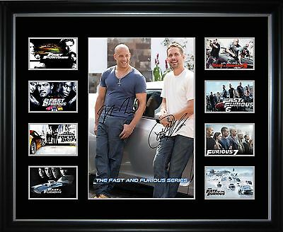 Paul Walker Vin Diesel The Fast and Furious Series Framed Memorabilia