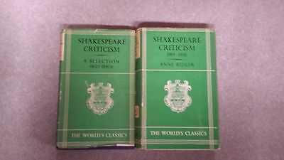 Shakespeare Criticism World's Classic, Oxford, vintage hardcovers, lot of 2