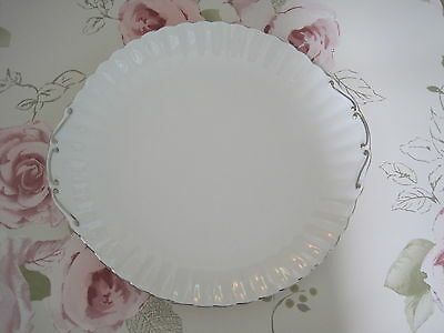 "Royal Albert chantilly platinum Cake / sandwich plate 10.5"" vintage"