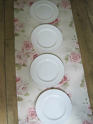 Vintage 4 large Royal Albert Chantilly platinum dinner plates