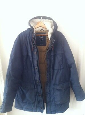 Crew Clothing Co. Navy Blue Men's Parka Coat XL