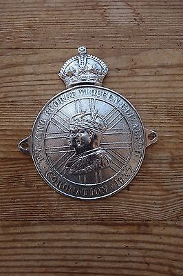Rare Vintage 1937 Coronation King George V1 & Queen Elizabeth Car Badge