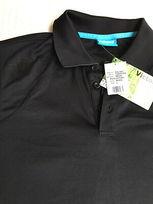 Bioracer Victory Cycling Polo Shirt - Black   Large   New