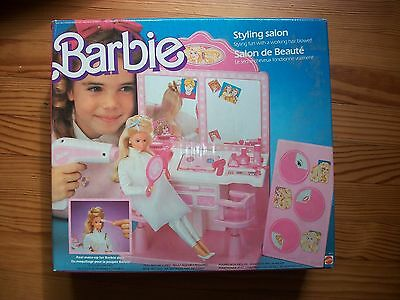 ☼ Mobilier barbie vintage : salon de beauté 1987 ☼